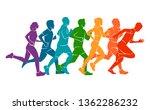 running marathon  people run ... | Shutterstock .eps vector #1362286232