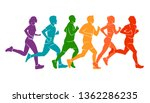 running marathon  people run ... | Shutterstock .eps vector #1362286235