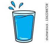 glass of water cartoon   a... | Shutterstock .eps vector #1362288728