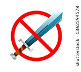 weapon are not allowed  red... | Shutterstock .eps vector #1362294578
