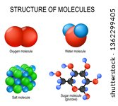 structure of molecules. oxygen  ... | Shutterstock . vector #1362299405