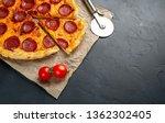 tasty pepperoni pizza of... | Shutterstock . vector #1362302405