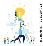 vector illustration  teamwork ... | Shutterstock .eps vector #1362304715