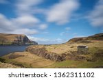 faroese grazing or pasture land ...   Shutterstock . vector #1362311102