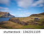 faroese grazing or pasture land ...   Shutterstock . vector #1362311105