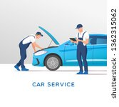 car service and repair. vector... | Shutterstock .eps vector #1362315062