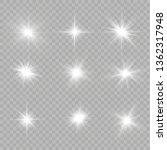 white glowing light explodes on ... | Shutterstock .eps vector #1362317948