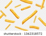 falling french fries on... | Shutterstock .eps vector #1362318572