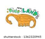 cute dinosaur colored hand...   Shutterstock .eps vector #1362320945