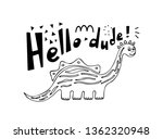 cute dinosaur colored hand...   Shutterstock .eps vector #1362320948