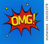 comic speech bubble with... | Shutterstock .eps vector #1362321578