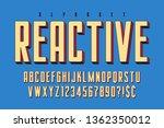 trendy 3d comical font design ... | Shutterstock .eps vector #1362350012