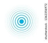 radio signal. blue rings. sound ... | Shutterstock .eps vector #1362356972