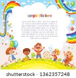 boys and girls are playing in... | Shutterstock .eps vector #1362357248