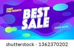 best sale vector banner... | Shutterstock .eps vector #1362370202