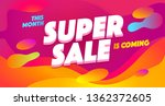 super sale  sell out vector... | Shutterstock .eps vector #1362372605