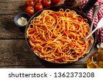tasty italian classic spaghetti ... | Shutterstock . vector #1362373208