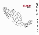 map of mexico from abstract... | Shutterstock .eps vector #1362390542