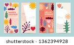 a set of greeting card with...   Shutterstock .eps vector #1362394928