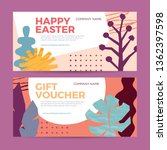 a set of gift certificates for...   Shutterstock .eps vector #1362397598