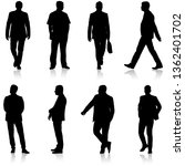 black silhouette group of... | Shutterstock .eps vector #1362401702