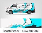 van wrap design. wrap  sticker... | Shutterstock .eps vector #1362409202