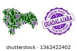 vector collage of grape wine...   Shutterstock .eps vector #1362422402
