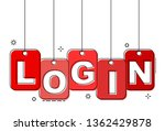 red flat line tag login