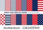 patriotic red white blue stars  ...   Shutterstock .eps vector #1362435545
