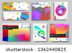 modern abstract covers set.... | Shutterstock .eps vector #1362440825