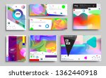 modern abstract covers set.... | Shutterstock .eps vector #1362440918