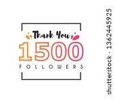 1500 Followers thank you design template