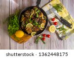 fish dishes. fresh  hot  fried... | Shutterstock . vector #1362448175