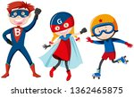 set of super hero illustration | Shutterstock .eps vector #1362465875