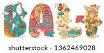 culture of bali in custom font... | Shutterstock .eps vector #1362469028