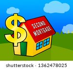 second mortgage finance icon... | Shutterstock . vector #1362478025