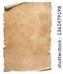 old worn paper sheet isolated... | Shutterstock . vector #1362479198