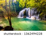 Erawan Waterfall In National...