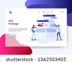 landing page seo package... | Shutterstock .eps vector #1362503405