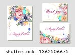 floral spring templates with...   Shutterstock .eps vector #1362506675