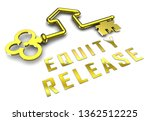 equity release key means a line ... | Shutterstock . vector #1362512225