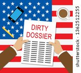 dirty dossier folder containing ... | Shutterstock . vector #1362512255