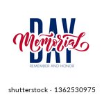 memorial day. remember and... | Shutterstock .eps vector #1362530975