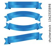 set of blue ribbon banner icon... | Shutterstock .eps vector #1362535898