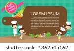 kids cooking class certificate... | Shutterstock .eps vector #1362545162