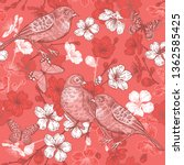 seamless pattern with japanese... | Shutterstock .eps vector #1362585425