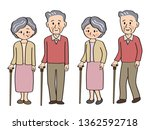 uple holding a cane | Shutterstock .eps vector #1362592718
