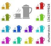 tea  teapot  cup multi color...