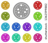 pizza sausage multi color icon. ...