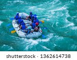 Raft In Mid Of River Ganges...